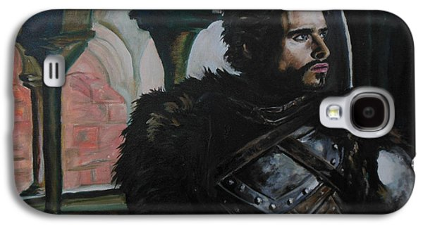 Knights Castle Paintings Galaxy S4 Cases - The Young Wolf Galaxy S4 Case by Demian Legg