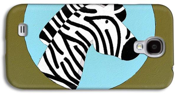 Zebra Digital Art Galaxy S4 Cases - The Zebra Cute Portrait Galaxy S4 Case by Florian Rodarte