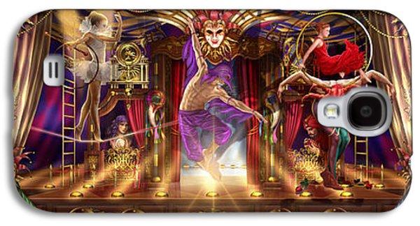 Jester Digital Art Galaxy S4 Cases - Theatre of the Absurd Triptych  Galaxy S4 Case by Ciro Marchetti