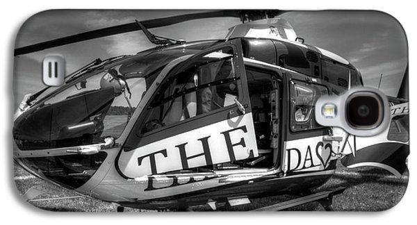 Helicopter Photographs Galaxy S4 Cases - Theda Star Black and White Galaxy S4 Case by Thomas Young