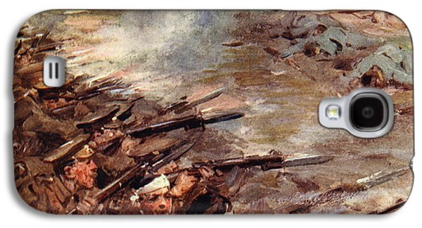 Bayonet Galaxy S4 Cases - Their men advanced in dense masses Galaxy S4 Case by Cyrus Cuneo