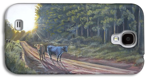 Them Cows Is Out Again Galaxy S4 Case by Callie Smith