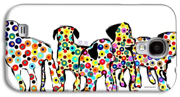 Puppies Mixed Media Galaxy S4 Cases - Them Pups Galaxy S4 Case by Bri Buckley
