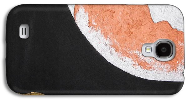 Visionary Artist Galaxy S4 Cases - ..then the Moon come to kiss Good Bye... Galaxy S4 Case by Marianna Mills