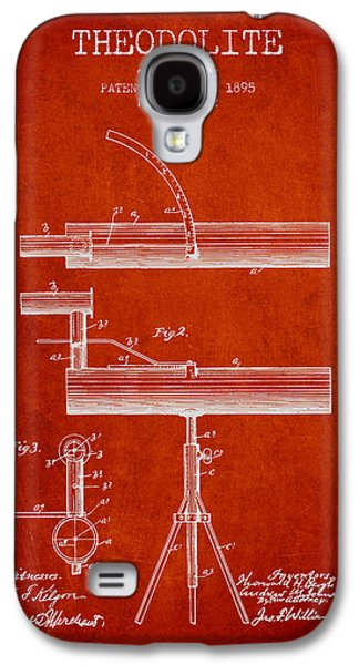 Surveying Galaxy S4 Cases - Theodolite Patent from 1895 - Red Galaxy S4 Case by Aged Pixel