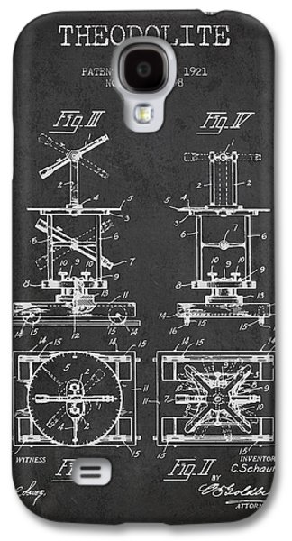 Surveying Galaxy S4 Cases - Theodolite patent from 1921- Charcoal Galaxy S4 Case by Aged Pixel