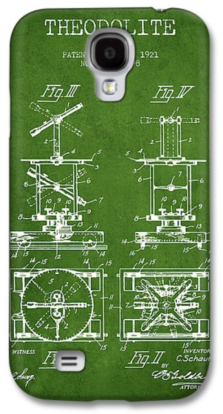 Surveying Galaxy S4 Cases - Theodolite patent from 1921- Green Galaxy S4 Case by Aged Pixel