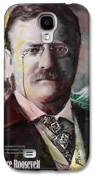James Buchanan Galaxy S4 Cases - Theodore Roosevelt Galaxy S4 Case by Corporate Art Task Force