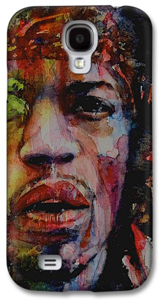 Jimi Hendrix Galaxy S4 Cases - There Must Be Some Kind Of Way Out Of Here Galaxy S4 Case by Paul Lovering