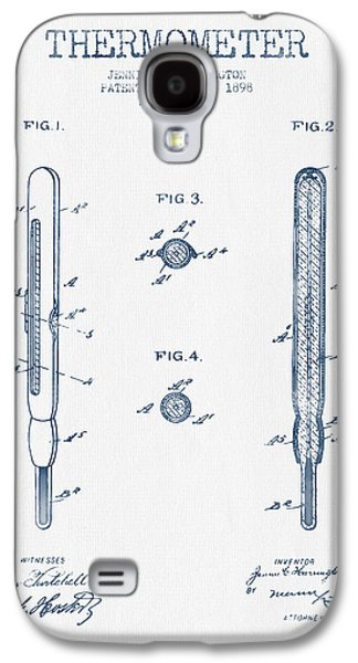 Temperature Galaxy S4 Cases - Thermometer patent from 1898 - Blue Ink Galaxy S4 Case by Aged Pixel