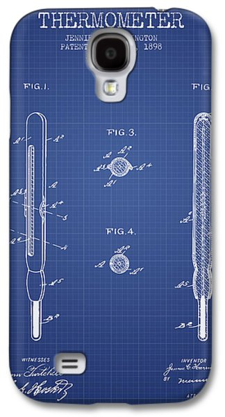 Temperature Galaxy S4 Cases - Thermometer patent from 1898 - Blueprint Galaxy S4 Case by Aged Pixel