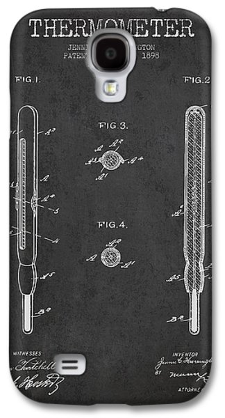 Temperature Galaxy S4 Cases - Thermometer patent from 1898 - Dark Galaxy S4 Case by Aged Pixel