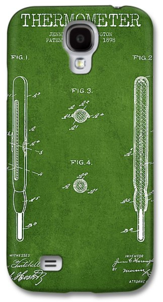 Temperature Galaxy S4 Cases - Thermometer patent from 1898 - Green Galaxy S4 Case by Aged Pixel