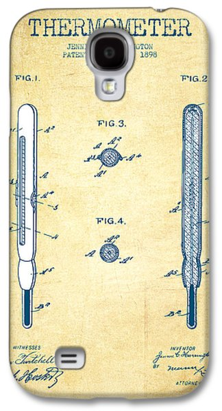 Temperature Galaxy S4 Cases - Thermometer patent from 1898 - Vintage Paper Galaxy S4 Case by Aged Pixel