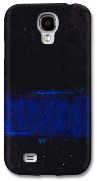Law Enforcement Paintings Galaxy S4 Cases - Thin Blue Line Galaxy S4 Case by Sarah Jane Thompson