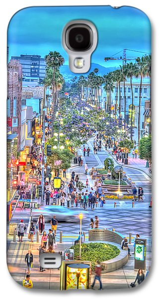 California Tourist Spots Galaxy S4 Cases - Third Street Promenade Galaxy S4 Case by Chuck Staley