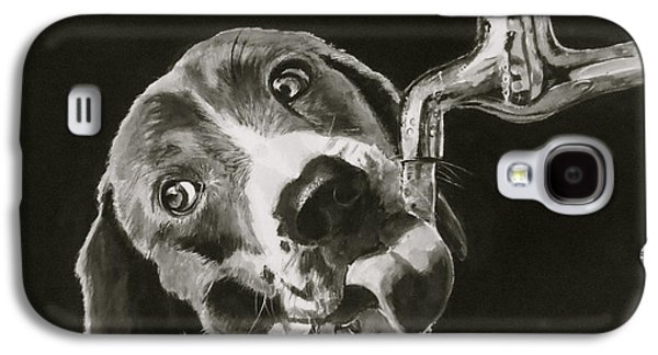 Recently Sold -  - Puppies Galaxy S4 Cases - Thirsty Galaxy S4 Case by Carol Blackhurst