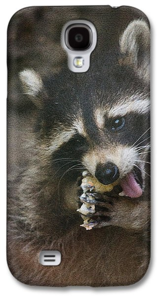 Raccoon Digital Art Galaxy S4 Cases - This is a real sticky snack Galaxy S4 Case by Eti Reid