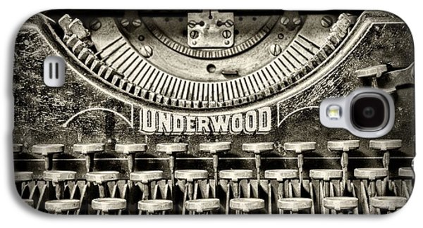 Typewriter Keys Photographs Galaxy S4 Cases - This Old Typewriter Galaxy S4 Case by Paul Ward