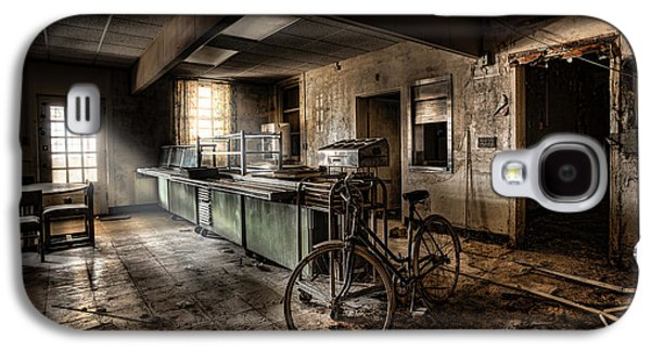 Creepy Digital Art Galaxy S4 Cases - This would be the end - Cafeteria - Abandoned Asylum Galaxy S4 Case by Gary Heller
