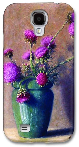 Sun Galaxy S4 Cases - Thistles Galaxy S4 Case by Rick Hansen