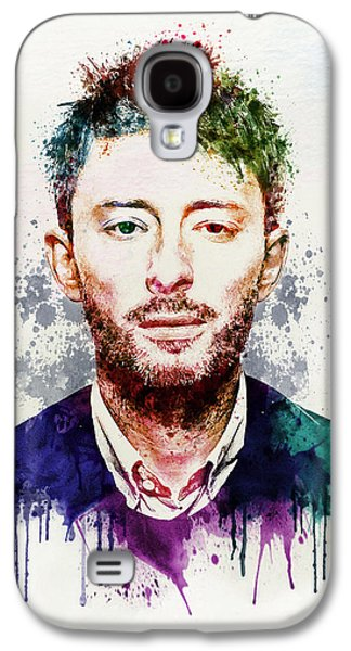 """""""square """" Mixed Media Galaxy S4 Cases - Thom Yorke watercolor Galaxy S4 Case by Marian Voicu"""