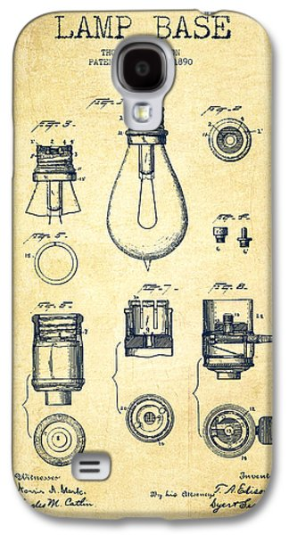 Lantern Digital Galaxy S4 Cases - Thomas Edison Lamp Base Patent from 1890 - Vintage Galaxy S4 Case by Aged Pixel
