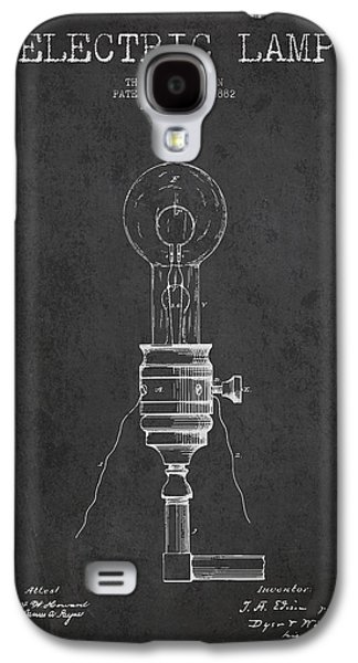 Edison Galaxy S4 Cases - Thomas Edison Vintage Electric Lamp Patent from 1882 - Dark Galaxy S4 Case by Aged Pixel