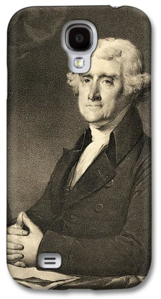 Historical Figures Galaxy S4 Cases - Thomas Jefferson Galaxy S4 Case by American School