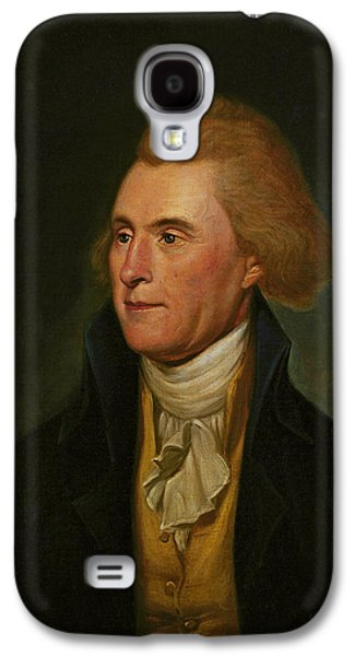 Historical Figures Galaxy S4 Cases - Thomas Jefferson Galaxy S4 Case by Charles Wilson Peale