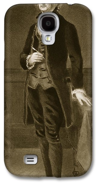Republican Paintings Galaxy S4 Cases - Thomas Jefferson Galaxy S4 Case by Eliphalet Frazer Andrews