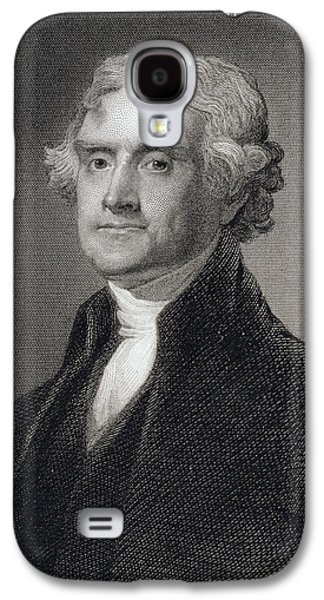 Politician Paintings Galaxy S4 Cases - Thomas Jefferson Galaxy S4 Case by Gilbert Stuart