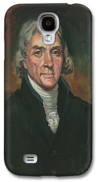 Declaration Of Independence Paintings Galaxy S4 Cases - Thomas Jefferson Galaxy S4 Case by Kaziah Hancock