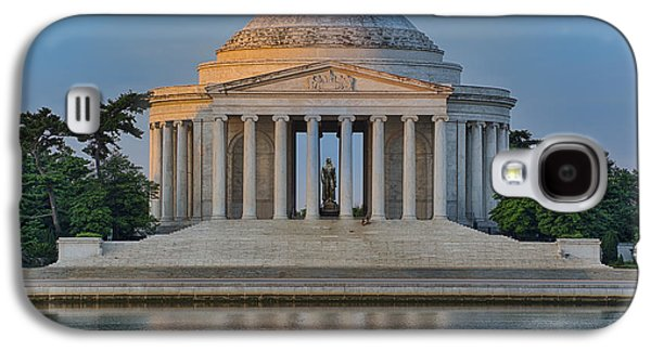 Landmarks Photographs Galaxy S4 Cases - Thomas Jefferson Memorial at Sunrise Galaxy S4 Case by Sebastian Musial