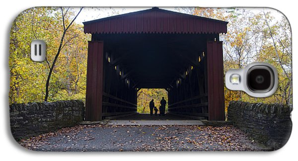 Family Walks Galaxy S4 Cases - Thomass Covered Bridge - Family Walk Galaxy S4 Case by Bill Cannon