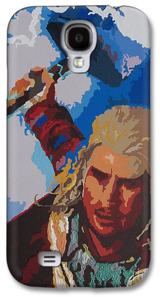 Hammer Paintings Galaxy S4 Cases - THOR - Bring The Thunder Galaxy S4 Case by Kelly Hartman