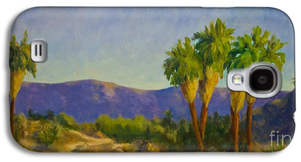 Morning Light Paintings Galaxy S4 Cases - Thousand Palms Preserve Galaxy S4 Case by Maria Hunt