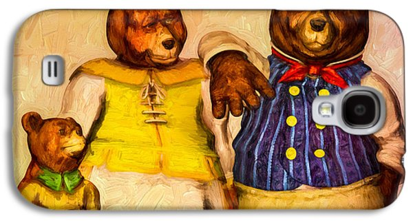 Porridge Galaxy S4 Cases - Three Bears Family Portrait Galaxy S4 Case by Bob Orsillo
