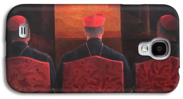 Religious Galaxy S4 Cases - Three Cardinals, 2012 Acrylic On Canvas Galaxy S4 Case by Lincoln Seligman