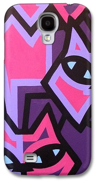 Icons Prints Paintings Galaxy S4 Cases - Three Cats Galaxy S4 Case by John  Nolan