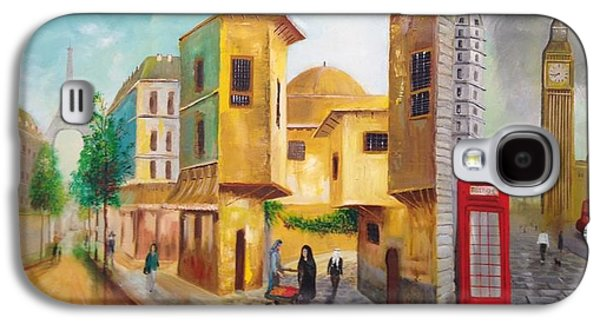 Baghdad Paintings Galaxy S4 Cases - Three Cities Galaxy S4 Case by Rami Besancon