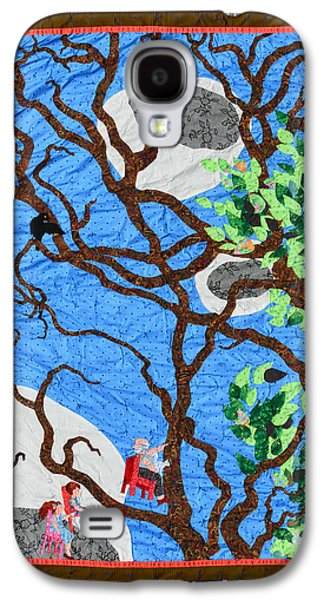 Chair Tapestries - Textiles Galaxy S4 Cases - Three Flying Chairs Galaxy S4 Case by Nancy Mauerman