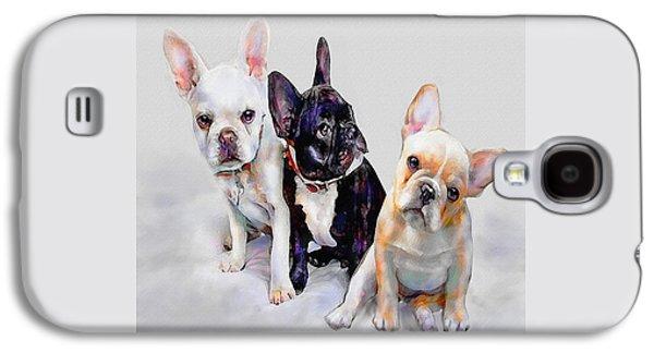 Three Frenchie Puppies Galaxy S4 Case by Jane Schnetlage