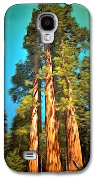 Three Giant Sequoias Digital Galaxy S4 Case by Barbara Snyder