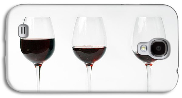 Wine Sipping Galaxy S4 Cases - Three Glasses Of Wine  Galaxy S4 Case by Patricia Hofmeester