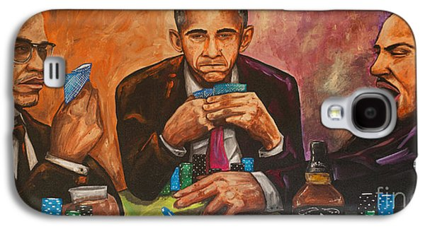 Obama Galaxy S4 Cases - Three Kings Full House Galaxy S4 Case by Chuck Styles