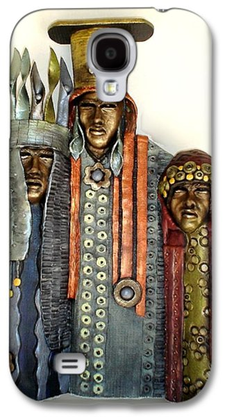 People Sculptures Galaxy S4 Cases - Three Kings Galaxy S4 Case by Wayne Niemi