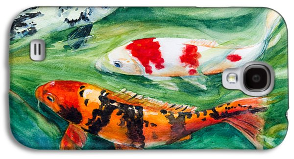 Fish Pond Galaxy S4 Cases - Three Koi Galaxy S4 Case by Patricia Allingham Carlson