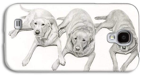 Mixed Labrador Retriever Galaxy S4 Cases - Three Of A Kind Galaxy S4 Case by Sarah Batalka
