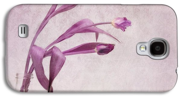 Floral Still Life Galaxy S4 Cases - Three Of Us Galaxy S4 Case by Priska Wettstein